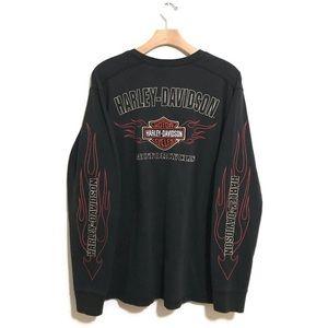 🔥Vintage Embroidered Harley Davidson Longsleeve
